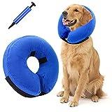 JOELELI Aufblasbares Haustierhalsband Weiches Hundekegelhalsband Schutzhalshalsband für die Wiederherstellung von Hunden und Katzen E-Halsband mit 1 Inflator(S)