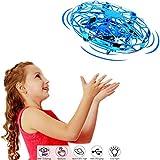 salipt Mini Drohne, UFO Flying Ball, Fliegender Ball Handsteuerung, Flugzeuge Spielzeug, Hubschrauber Quadrocopter mit 360°Rotierenden und LED-Leuchten, Geschenke für Jungen Mädchen,Rot (Azul)