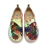 UIN Damen Segelschuhe Schmetterling Gedrukt Slip On Multicolore (40)