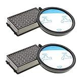 2x Hepa Staubsaugerfilter Set für Rowenta Compact Power Cyclonic Staubsauger wie RO3731, RO3715, Filter wie ZR005901, Filter für Tefal, Moulinex Compact Power Cyclonic, Filter Set von CleanMonster