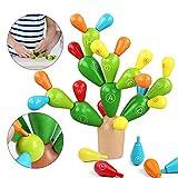 Sunshine smile Balance Kaktus,Kaktus Spielzeug,holzblöcke Spielzeug,Montessori holzspielzeug,lernspielzeug Holz für Kinder,geschicklichkeitsspiel,konstruktionsspielzeug