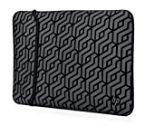 HP Sleeve (2TX16AA) wendbare Schutzhülle für Laptops, Tablets (Neopren, 14 Zoll) Muster, schwarz / silber