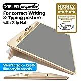 Ergonomische A3-Schreibpult mit Griffmatte für bessere Schreibhaltung und Komfort - von ZIELER®. Hochwertiges, lackiertes Holz - 20° Winkel. Geeignet für Kinder und Erwachsene. Platzsparendes Design