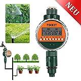 FIXKIT Digitaler Wassertimer, Bewässerungsuhr IP68 Wasserdichter LCD Bildschirm, Bewässerungsprogramme bis zu 30 Tagen, ideal zur Blumenbewässerung, Rasenbewässerung usw