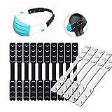15-teiliges Set] Maskenverlängerung, Maskenhaken, Anti-Spann-Gehörschutz-Dekompression Fixierer, einstellbarer rutschfester Maskenverlängerer, elastischer Maskenohrriemen-Hakenfixierer.