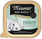 Miamor Milde Mahlzeit Senior - Geflügel Pur & Rehwild, 16er Pack (16 x 100 g)