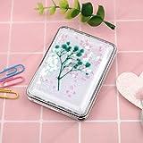 Bmstjk Tragbarer, doppelseitig klappbarer Kosmetikspiegel mit fließendem, funkelndem Sand und kompaktem Taschenspiegel für das Büro zu Hause