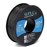 SUNLU ABS Filament 1.75mm for FDM 3D Printer, 1KG(2.2LBS) ABS 3D Filament Accuracy +/- 0.02 mm, Black