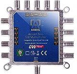 Anadol Zero Watt - Stromloser Multischalter für Satellit 5/8 für 8 Teilnehmer - Eco Sat-Verteiler - Quattro & Quad LNB tauglich - Digital - HD+ HDTV UHD und 4K-Sat-Switcher