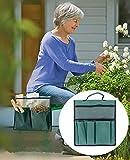 Garten-Kniebank-Werkzeugtasche – wasserdichte Sitzaufbewahrung, Handtasche, 600D, tragbarer Hänge-Organizer für Outdoor-Gartenarbeit