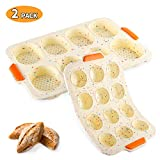 BestCool Brötchen Backform 8 Einheiten Silikon Backformen, Muffinform aus Silikon, Backform für 12 Muffins für Cupcakes, Pudding, Kuchen, Brownies - Antihaft & Leicht zu Reinigen