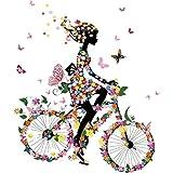 Manyo DIY Mädchen Fahrrad fahren Stickerei Applikation Für Decoreting und Patching Jacket, T-Shirt, Jeans, Hut, Kleid.