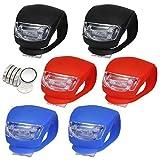 LED Lampe Licht Sicherheitslicht LED Kinderwagen Set Silikon Leuchte Kinderwagen 6 Stück Kinderwagen Blinklicht Taschenlampe (6Stück)