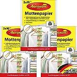 Aeroxon - Mottenpapier - 3x20 Stück - gegen Motten, Käfer und Larven - Mottenschutz für ihre Kleidung im Kleider-Schrank