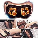 Sinbide Infrarot Massagegerät Nacken Massagekissen Massage Nacken Gerät Massagekissen für Nacken Rücken Hände Schulter mit 8 3D-rotierenden Massageköpfen (champagne)