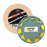 MAXIMUMCATCH Gold/Moss Fliegenschnur 100ft 2F-9F Schwimmende mit 2 Schlaufen (WF5F)