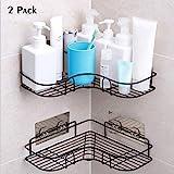 Duschregal Eckregal, Duschorganisator-Lagerung, Duschwanne mit rostfreiem Edelstahl-anhaftendem Aufkleber für die Küche u Badezimmer-Zusatz-anhaftender Aufkleber eingeschlossen