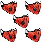 QueenNa Staubdichte Fahrrad-Maske mit Filter, Halbgesichtsmasken aus Carbon, für Motorradfahren, Holzarbeiten,Radfahren, Laufen, Fahrrad
