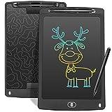 Czemo Bunte Schreibtafel LCD 10Zoll,Elektronisches LCD Schreibbrett Digitales Zeichenbrett ,Grafiktabletts Schreibplatte, Kinderspielzeug Erwachsene Geschenke (Schwarz)