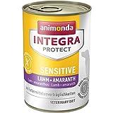 animonda Integra Protect Sensitive Hund, Diät Hundefutter, Nassfutter bei Futtermittelallergie, Lamm + Amaranth, 6 x 400 g