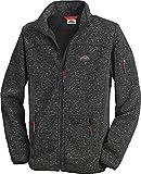 Stubai - Strick Fleecejacke Herren/Strickjacke mit Fleece Innenseite für Outdooraktivität, Strick Fleece Jacke mit Stehkragen und Reißverschluss (Farbe: Anthrazit, Größe: M - 3XL)