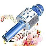 SunTop Bluetooth Karaoke Mikrofon Kinder, Drahtlose Mikrofon Player mit Lautsprecher Dynamisches Mikrofon für Erwachsene und Kinder