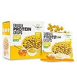 High Protein Erbsen Crisps - 42% Protein Fitness Snack - Mit Erbsenprotein - Low Sugar & Low FAT - Ideal zur Diät Fitness - 5x 60g (Honig Senf) - Alternative zu Chips - Vegan
