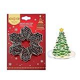 kuaetily Ausstechformen Weihnachten Keks Ausstecher Fondant für Plätzchenformen Edelstahl Cookie Cutters in verschiedenen Formen (9 teilig)