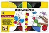 Eberhard Faber 578606 Fingermalfarben für Kinder und Kleinkinder, 6 Döschen mit je 40 ml Farbe in Faltschachtel