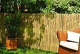 Robuster Sichtschutz Zaun Bambus CALAMA extra gehärtet von DE-Commerce® Balkonsichtschutz Trennwand für Garten,Terrasse,Balkon (HxB) 180 x 500 cm