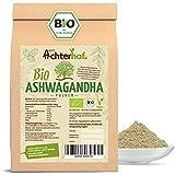 Ashwagandha Pulver BIO (500g) | 100% ECHTE Ashwagandhawurzel gemahlen aus Indien | indischer Ginseng | Ayurveda