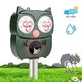Hospaop Katzenschreck Ultraschall Solar, Tiervertreiber mit Einstellbar Ultraschall Blitz Wasserdicht Abwehr, Tierschreck für Marder Katzen Vögel Waschbären Draußen Rasen Bauernh