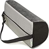 Supportiback Lendenkissen in D-Form, Memory-Form, ergonomisches Stützkissen für den Rücken, für Haus, Büro, Auto, Reise, lindert und beugt Rückenschmerzen vor