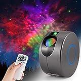 LED Galaxy Sternenhimmel Projektor, ZOTO 3D Sternenlicht Projektor Lamp mit Fernbedienung, 360° Drehung/7 Farben/Aurora-Effekt Nachtlicht für Baby Schlafzimmer Zuhause, Party