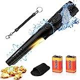 POVO Pinpointer Metalldetektor mit 2 Batterien IP68 Wasserdicht bis 10 Meter UnterWasser Tragbar Metallsuchgerät Schatzsuche Goldmünze Hunt Werkzeug mit Gürtelholster (Schwarz)
