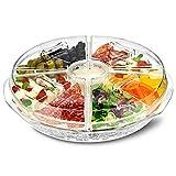dine@drinkstuff Auf EIS 8Abschnitt Appetizer Tray–Ice Chilled Sharing Platte mit Dip Tasse und Deckel für frische Snacks