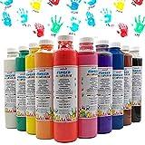 Fingermalfarbe 10er Set je 750ml Farbe Fingermalfarbe vom Hersteller € 4,38/L