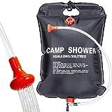 Qdreclod Campingdusche Solardusche Tasche, 20L Tragbare Solar Gartendusche Outdoor Warmwasser Dusche Reisedusche mit Duschkopf, Schlauch, Griffstange und Seil zum Aufhängen