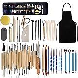 Töpferwerkzeug Set, 52Pack Werkzeug Ton, Keramik Werkzeug-Set, Modellierung Ton Werkzeug, Schnitzwerkzeug für Steinmalerei, Tonmodellierung, Prägung, Nagelkunst