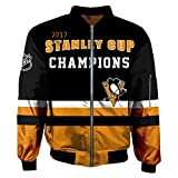 ZGRNB Hockey Trikot Herren Fleece Hoodie Winter Baumwolle Sweatshirt Jacken NHL Canadiens de Montréal Washington Capitals Pittsburgh Penguins Reiß Verschluss Coats Outwear