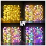Ollny 120 LED Lichtschlauch 7M mit EU Stecker, Warmweiß und Bunt Schlauch Lichterketten mit Fernbedienung Timer, Wasserdichter Rope Lights für Innen Außen Hochzeit Weihnachten Geburtstag Party