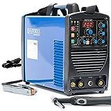 IPOTOOLS ACDCTIG 200P WIG Schweißgerät AC DC Schweissgerät mit 200 Amper Volldigitales Inverterschweißgerät Inkl HF-Zündung, Pulsfunktion, MMA/E-Hand, IGBT