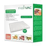 FreshVac Folienbeutel 20x30 cm, 50 Stück für Ihren Vakuumierer, starke & reißfeste Vakuumbeutel (Materialstärke ca. 140 µm), BPA-frei, ideal für SousVide Garen