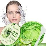 Natürliche Feuchtigkeitspflege Aloe Vera Gel, 300ml Aloe Vera Gel, für trockene Haut,Sonnenbrand Reparieren, Beruhigende und Pflegende, Natürliche Feuchtigkeitspflege für Gesicht, Körper und Haar