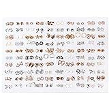 CADANIA Ohrringe, 100 Paare Mini Kunststoff Hypoallergene Ohrstecker Lot für Kinder-B Gold, Silber und weiße Diamanten