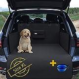 Kofferraumschutz XL für Hunde mit Ladekantenschutz, Napf, Beutel & Tasche | Auto Hundedecke - rutschfest Wasserdicht Waschbar | Kofferraum Schondecke Schutzdecke Kofferraummatte Hundematte Autodecke