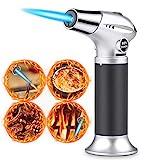 Küchenbrenne Flambierbrenner Butangasbrenner mit Sicherheitsschloss Butan Gasbrenner für Creme Brulee, BBQ, Herd, Kochen, Grill, Kerzen, Backen(Butan inbegriffen nicht)