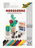folia 231009 - Moosgummi, 2 mm, ca. 20 x 29 cm, 10 Bögen, sortiert in 10 Farben - ideal für vielseitige Bastelarbeiten