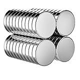 Magnete, 40 Stück 10 x 3 mm Kühlschrankmagnete runde Magnete Whiteboard Magnete Für Pinnwand, Anschlagtafel, Kühlschrank, Bildmagnet Mit Box