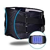 ZHIJING Rückenbandage Rückenstütze Rückengurt mit Stützstreben Nierenwärmer Herren Rückenstützgurt verstellbare Zuggurte zur Haltungskorrektur zum Arbeitsschutz atmungsaktiv L/XL 76-95cm